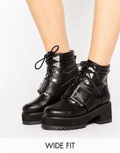 Походные ботинки для широкой стопы ASOS RIVER - Черный