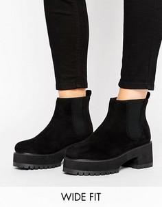 Ботинки челси для широкой стопы ASOS RENEE - Черный