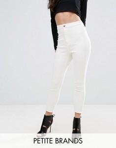 Укороченные суперэластичные джинсы скинни с завышенной талией Missguided Petite - Синий