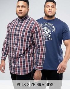 Рубашка в клетку и футболка Duke PLUS - Мульти