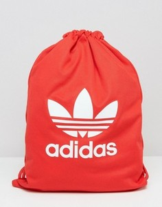 Рюкзак на затягивающемся шнурке Adidas Tricot - Красный