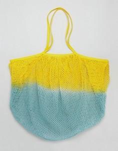 Сумка-шоппер из веревки с эффектом омбре ASOS BEACH - Желтый