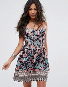 Летнее платье с цветочным принтом Boohoo - Мульти
