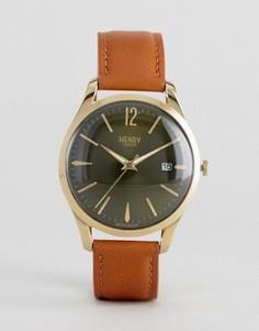 Часы со светло-коричневым кожаным ремешком Henry London Chiswick - Рыжий