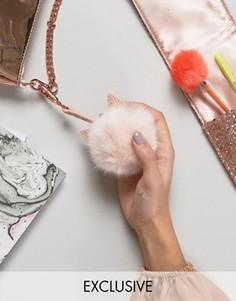 Подвеска для сумки с дизайном кошки и помпоном Skinnydip - Мульти