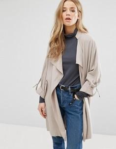 Куртка с драпировкой New Look - Бежевый