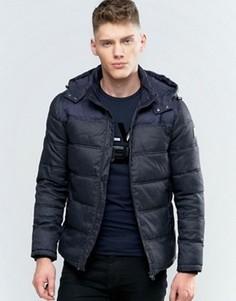 Дутая куртка с капюшоном Calvin Klein Jeans Ogent - Синий