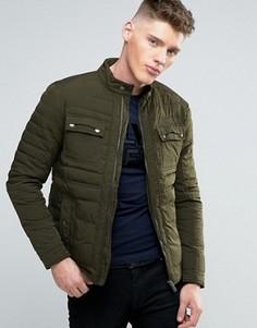Дутая куртка Calvin Klein Jeans Moto - Зеленый