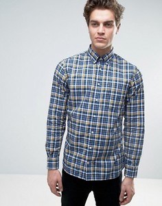 Рубашка в клетку Tommy Hilfiger - Темно-синий