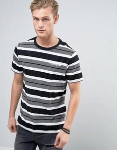 Серая футболка в полоску Converse 10003393-A01 - Серый