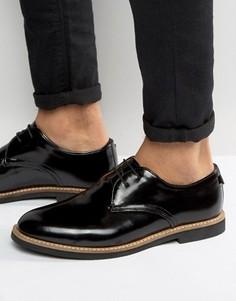 Блестящие туфли дерби Farah Saint - Черный
