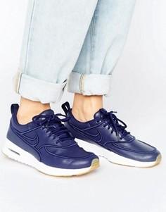 Темно-синие кроссовки Nike Air Max Thea Ultra Premium - Синий