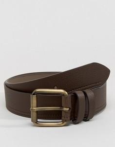Повседневный кожаный ремень для джинсов Ben Sherman - Коричневый