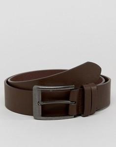 Повседневный кожаный ремень для джинсов Ben Sherman - Черный