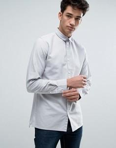 Узкая хлопковая оксфордская рубашка с длинными рукавами Jack & Jones Core - Бежевый