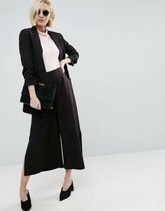 Комбинируемая юбка-брюки с боковыми разрезами ASOS - Черный