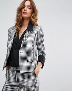 Двубортный пиджак Sisley - Черный