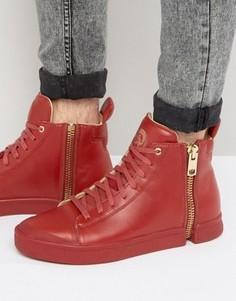 Кроссовки на молнии Diesel Nentish - Красный