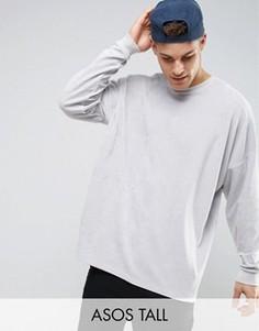 Oversize-свитшот из велюра ASOS TALL - Серый