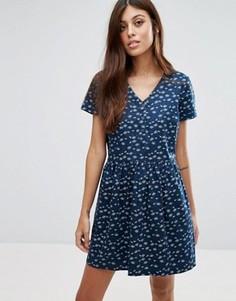 Платье-рубашка в мелкий цветочек Jack Wills - Темно-синий