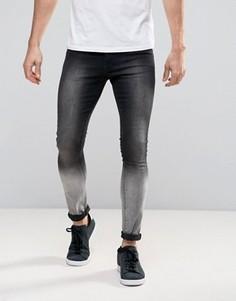 Черно-серые джинсы Brooklyn Supply Co - Черный