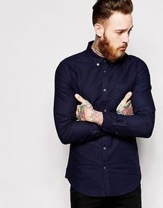 Оксфордская рубашка слим Dr Denim Pete - Синий