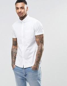 Белая приталенная оксфордская рубашка ASOS - Белый