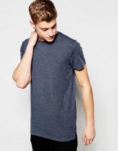 Удлиненная футболка Jack & Jones Core - Синий