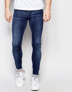 Супероблегающие осветленные джинсы Dr Denim Kissy 2nd Hand - Синий