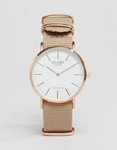 Бежевые часы с брезентовым ремешком Reclaimed Vintage - Бежевый