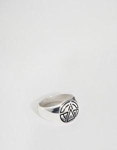 Кольцо-печатка с логотипом Chained & Able - Серебряный