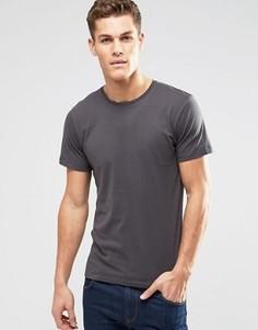Серая базовая футболка с круглым вырезом Esprit - Серый