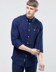 Классическая оксфордская рубашка цвета индиго Lyle & Scott - Темно-синий