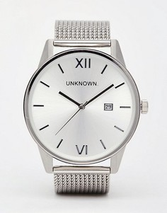 Серебристые часы с сетчатым ремешком UNKNOWN - Серебряный
