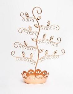 Медная подставка для украшений в форме цветка Sass & Belle - Мульти