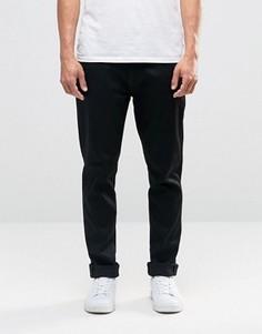 Черные джинсы с заниженным шаговым швом Nudie Brute Knut - Черный