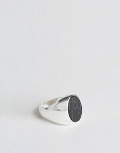 Кольцо с овальным камнем Chained & Able - Серебряный