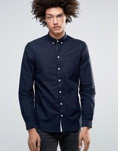 Классическая оксфордская рубашка узкого кроя на пуговицах Minimum Jay - Темно-синий