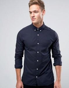 Оксфордская рубашка с длинными рукавами Jack & Jones Premium - Темно-синий