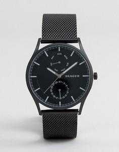 Черные часы с хронографом Skagen SKW6318 - 40 мм - Черный