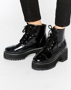 Ботинки на шнуровке ASOS RUE - Черный