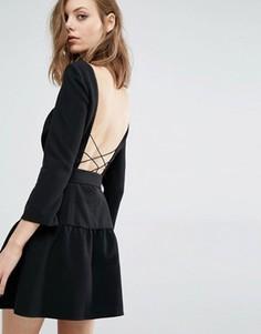 Платье с перекрестной спинкой Ba&sh Taxi - Черный Ba&Sh