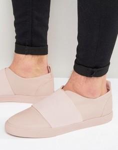 Розовые кроссовки-слипоны с эластичным ремешком ASOS - Розовый