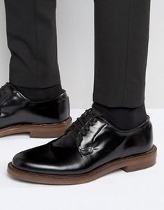 Блестящие туфли дерби Walk London Darcy - Черный