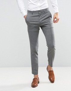 Фактурные серые брюки скинни ASOS WEDDING - Серый