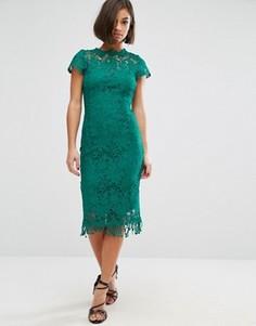 Кружевное платье с коротким рукавом Paper Dolls - Зеленый