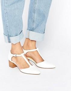 Туфли с T-образным ремешком ASOS OMARI - Белый