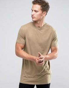 Удлиненная футболка Celio - Зеленый