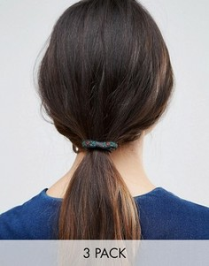 3 резинки для волос с принтом ASOS - Мульти