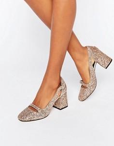 Туфли на каблуке с блестками ASOS SUNDANCE - Мульти